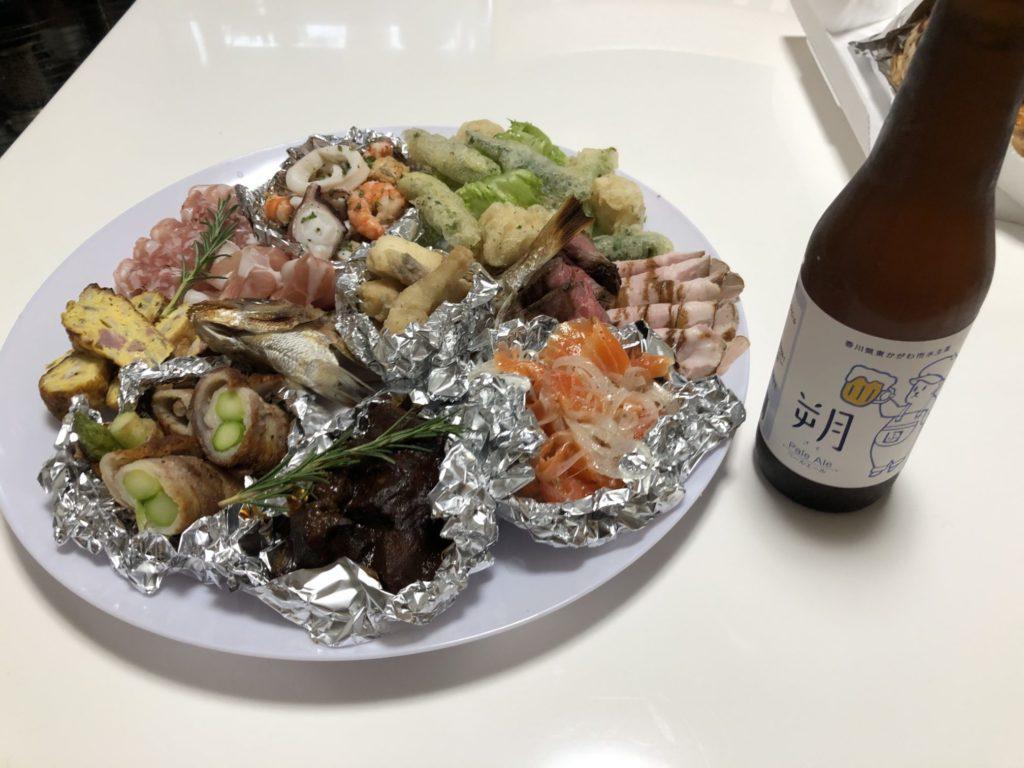 冷鮮オードブルと福繁食品のビール